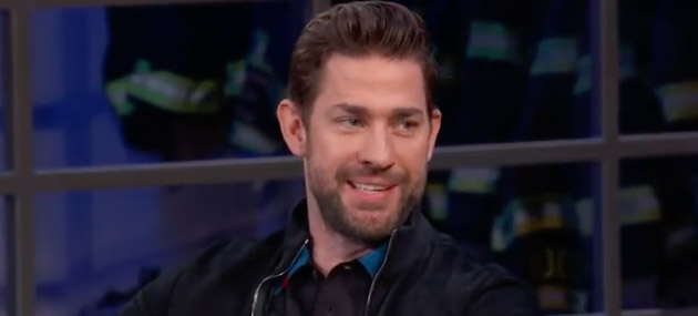 John Krasinski held back asking Emily Blunt what?
